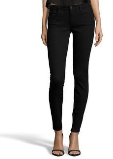 Earnest Sewn black stretch cotton blend denim 'Esra' mid-rise skinny jeans