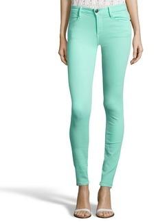 Earnest Sewn mint green stretch cotton blend denim 'Esra' skinny jeans