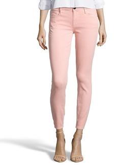 Earnest Sewn peach pearl stretch cotton blend denim 'Harlan' skinny jeans