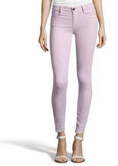 Earnest Sewn soft purple stretch cotton blend denim 'Esra' skinny jeans