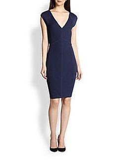 Diane von Furstenberg Cressida Textured-Knit Jersey Dress