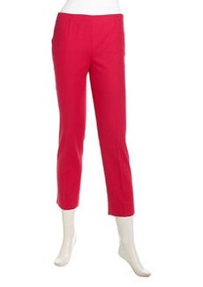 Lafayette 148 New York Ankle-Length Pique Capri Pants, Petunia