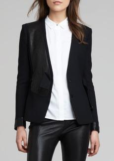 J Brand Ready to Wear Odilie Mix-Fabric Jacket