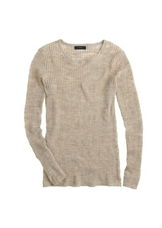 Linen rib-knit sweater