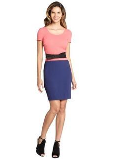 Prada pink and purple silk short sleeve dress