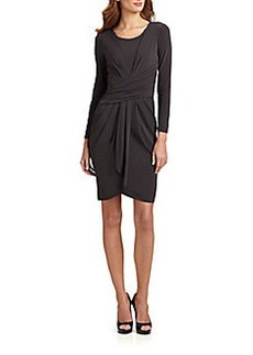 Armani Collezioni Wrap-Effect Stretch Jersey Dress