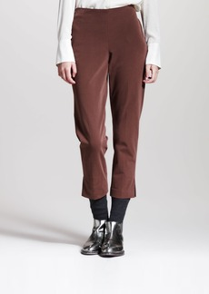 Brunello Cucinelli Cropped Brushed Cotton Pants, Fox