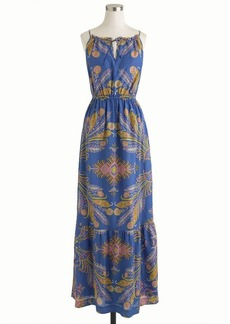 Feather paisley maxidress