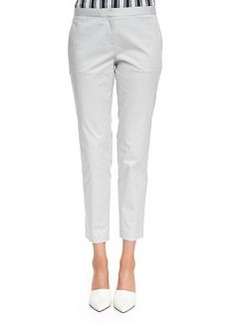 Summer Twill Cropped Pants, Cement   Summer Twill Cropped Pants, Cement