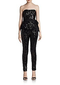 French Connection Sequined Peplum Jumpsuit