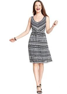 Style&co. Petite Printed-Mesh A-Line Dress