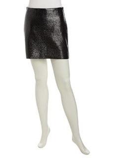 Robert Rodriguez Laminated Knit Miniskirt