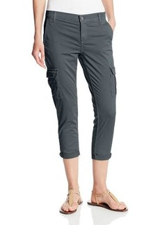 Calvin Klein Jeans Women's Compact Sateen Slim Cargo Crop