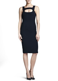 Michael Kors Fitted Cutout Dress, Midnight