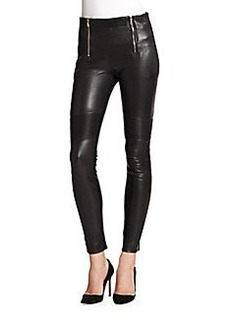 J Brand Emmi Leather Moto Pants
