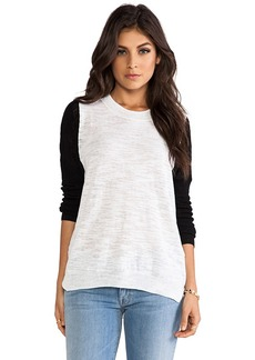 Rebecca Taylor Mesh Blocking Sweater in White