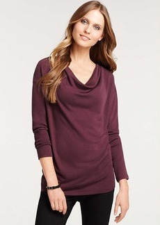 Petite Drape Neck Dolman Sleeve Top