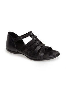 ECCO 'Flash' Woven Leather Sandal (Women)