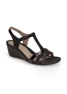ECCO 'Touch 45' T-Strap Wedge Sandal (Women)