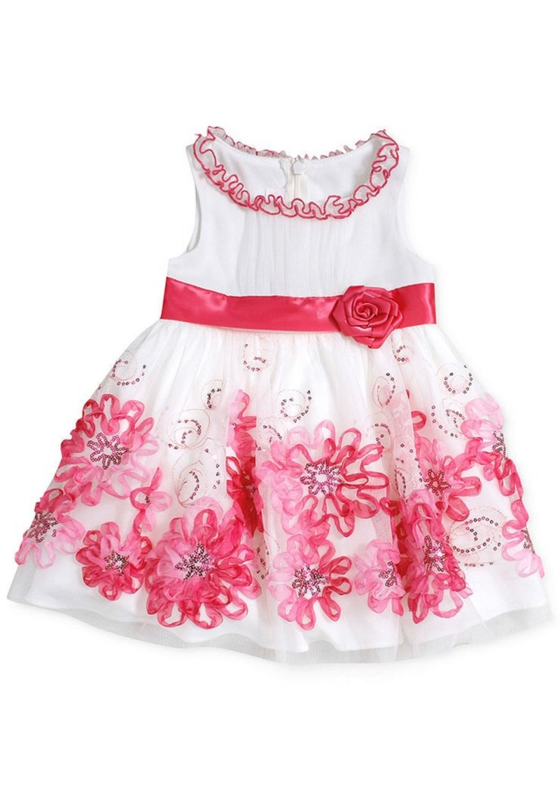 Baby girls white sleeveless special occasion dress dresses girls