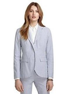 Stellita Fit Three-Button Seersucker Jacket