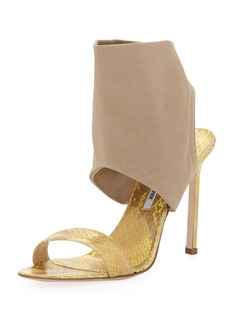 Manolo Blahnik Saccopen Combo Glove Sandal, Beige
