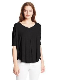 Calvin Klein Jeans Women's Pleat-Front Dolman V Tee Shirt