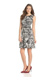 Calvin Klein Women's Printed A-line Dress