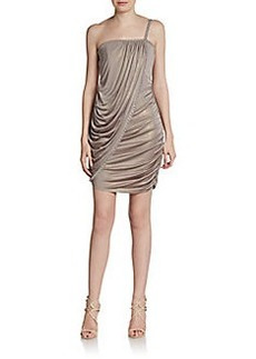 Laundry by Shelli Segal Draped Jersey One-Shoulder Dress