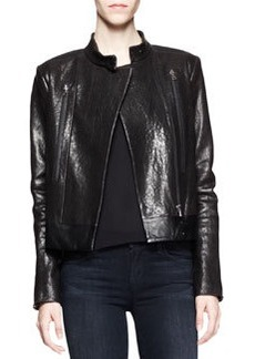 J Brand Ready to Wear Robyn Crackled Leather Jacket