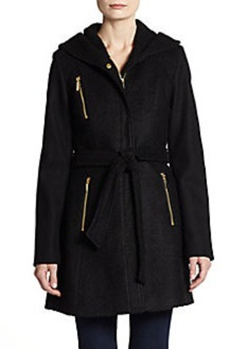 Laundry by Shelli Segal Hooded Tie-Waist Jacket