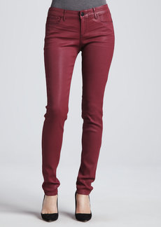 Habitual Denim Alice Sangria Coated Skinny Jeans