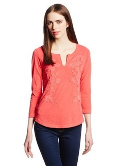 Lucky Brand Women's Overdyed Soutache Tee