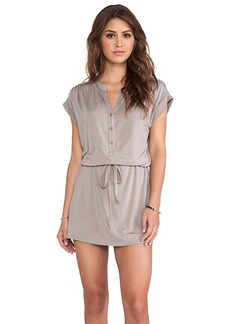Michael Stars Amelia Shirt Dress in Taupe
