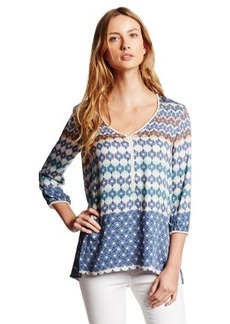 Democracy Women's Woven Printed Blouse