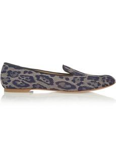 Giuseppe Zanotti Leopard-jacquard slippers