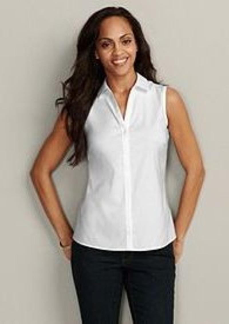 Eddie Bauer Women 39 S Wrinkle Free Sleeveless Shirt Solid