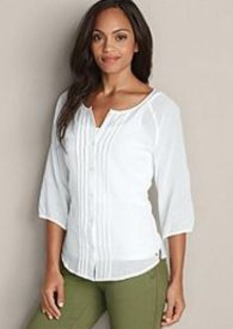 Eddie Bauer Women 39 S Daydreamer 3 4 Sleeve Shirt Solid