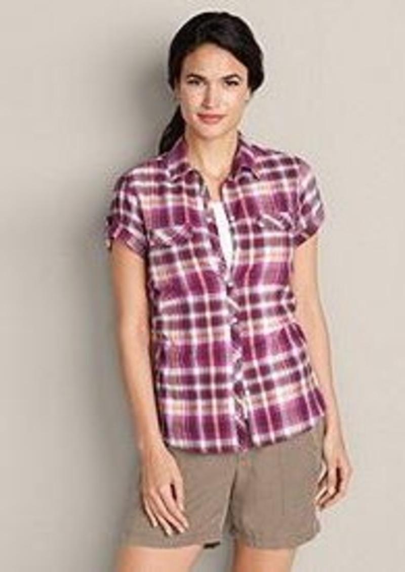 Eddie Bauer Women 39 S Packable Short Sleeve Shirt Plaid