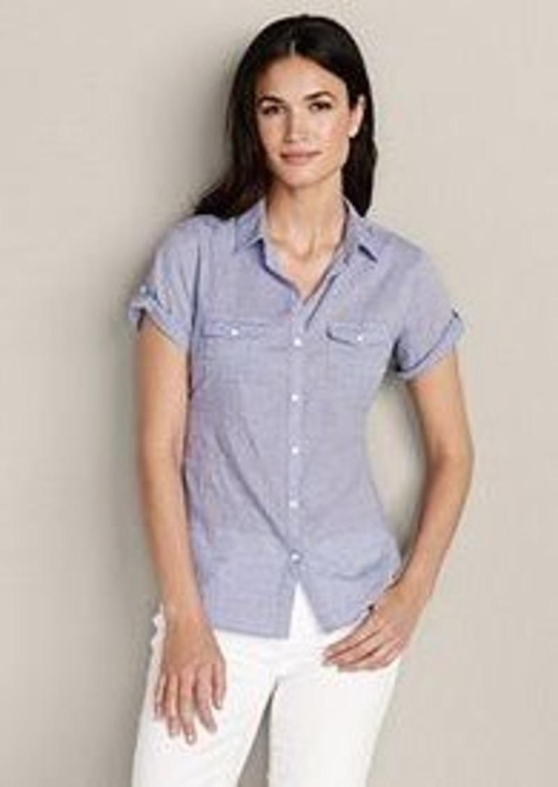 Eddie Bauer Women 39 S Packable Short Sleeve Shirt Solid