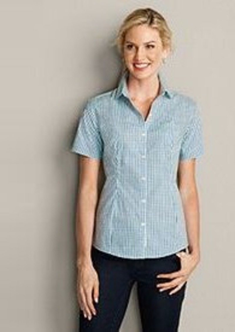 Eddie bauer women 39 s wrinkle free short sleeve shirt Wrinkle free shirts for women