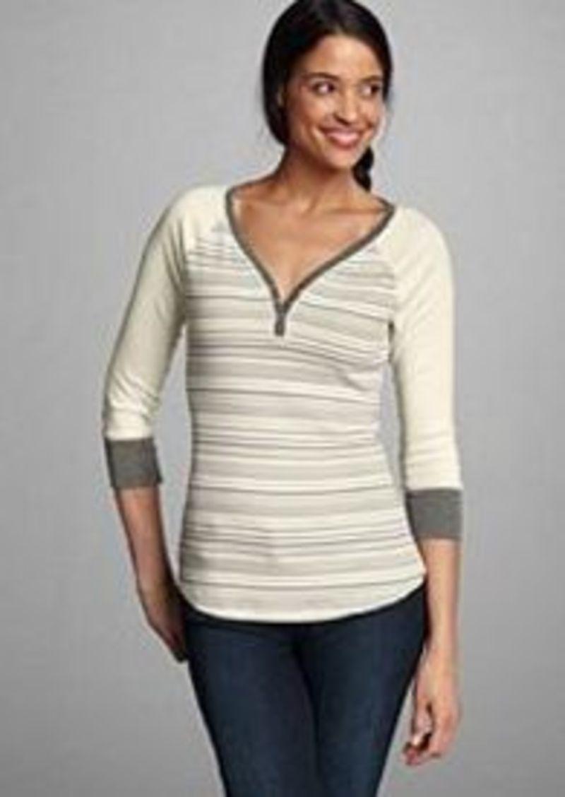 Eddie Bauer Women 39 S Favorite Striped Henley Shirt Casual