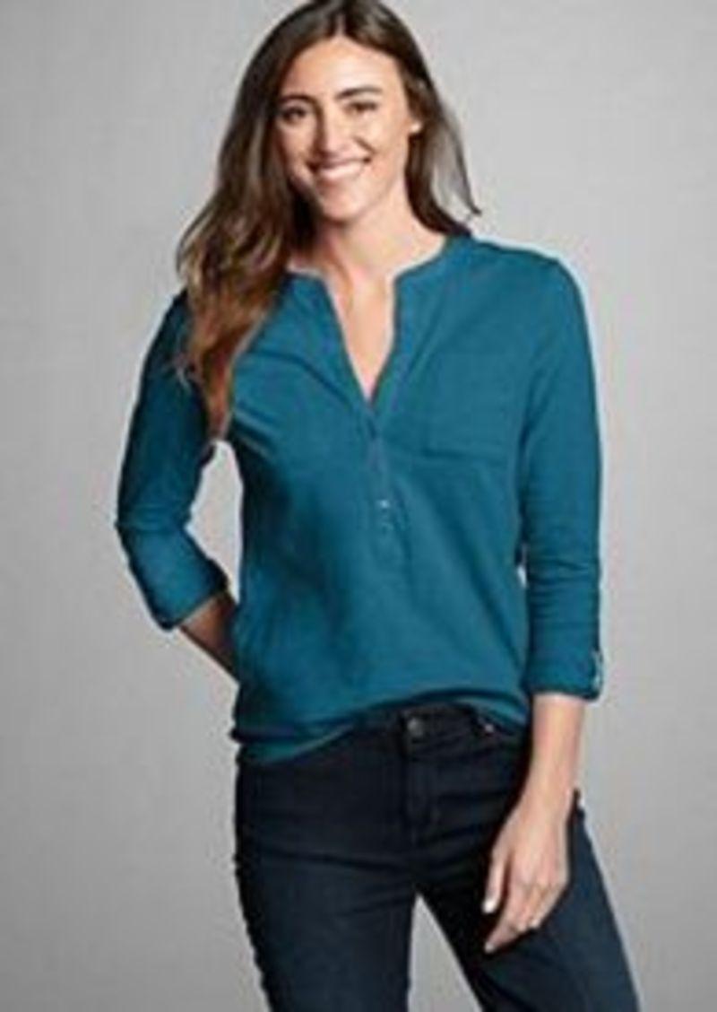 Eddie Bauer Women 39 S Essential Slub Popover Shirt Casual