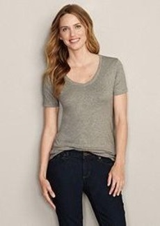"<img class=""prd-image"" src=""//eddiebauer.scene7.com/is/image/EddieBauer/0097327_722M1?%24category%24"" alt=""Short-Sleeve Favorite V-Neck T-Shirt"" title=""Short-Sleeve Favorite V-Neck T-Shirt"">"