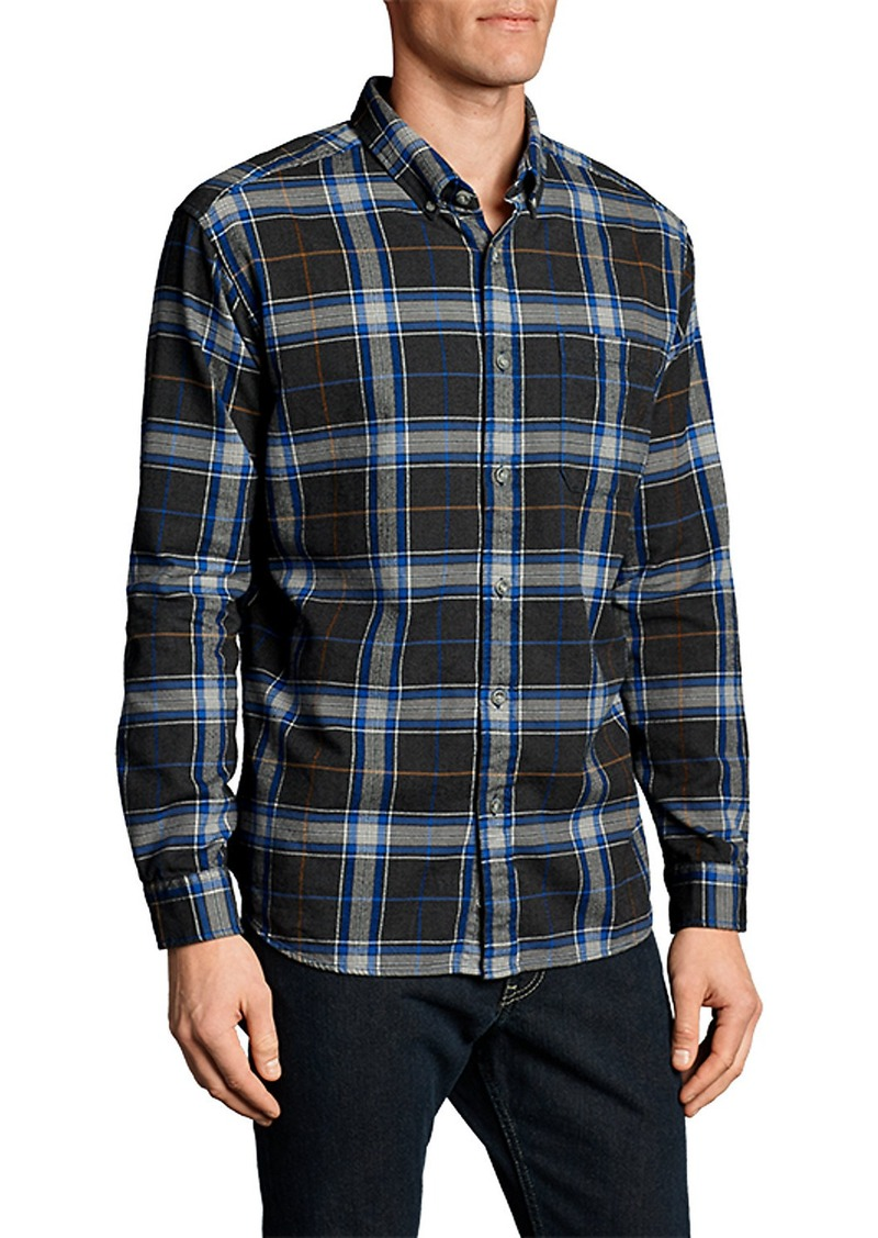 Eddie bauer men 39 s eddie 39 s favorite flannel slim fit shirt for Mens slim fit flannel shirt