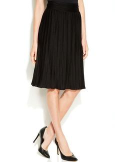 Calvin Klein Knit Pleated A-Line Skirt
