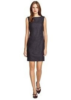 Sleeveless Wool Shift Dress