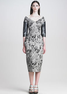 Marc Jacobs Cartoon-Flower Printed Dress
