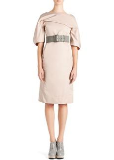 Jil Sander Techno-Duchesse Drape Dress