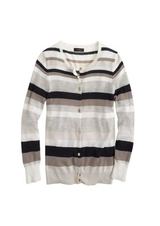 Collection featherweight cashmere cardigan in two-way stripe